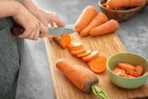 cortar zanahorias