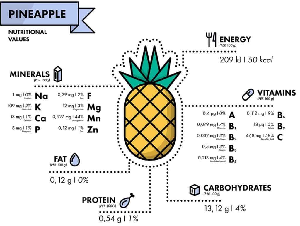 valores nutricionales piña